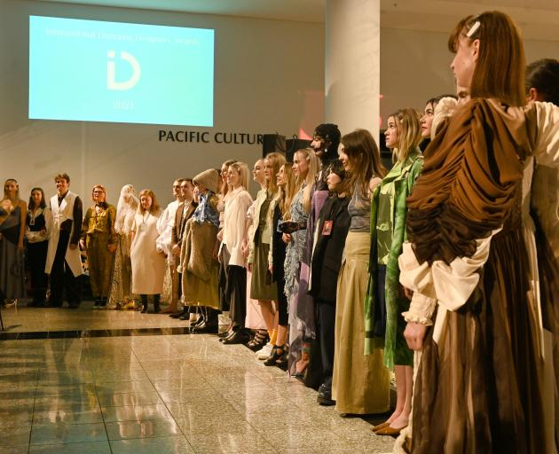 Emergong designers and models on the catwalk. Photo: Linda Robertson