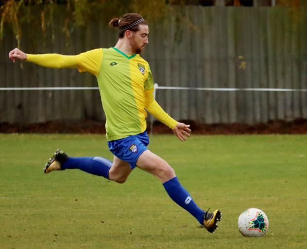 Mainland Football premiership leading scorer Garbhan Coughlan is poised to hit the target for...
