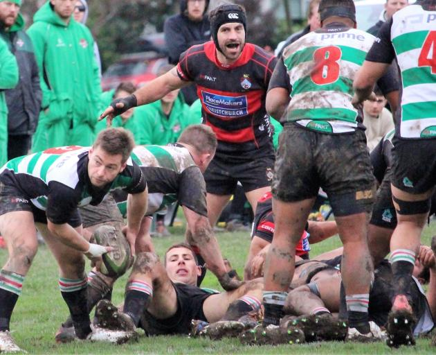 Christchurch stalwart Matt Etheredge makes his 100th appearance for the club against Linwood on...
