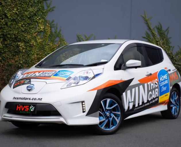 To go into the draw to win this $22,000 Nissan Leaf, visit the HVS Motors stand at the Home &...