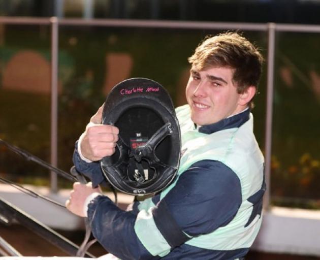 Harness racing driver John Morrison carried Charlotte McLeod's handwritten sticker in his helmet...