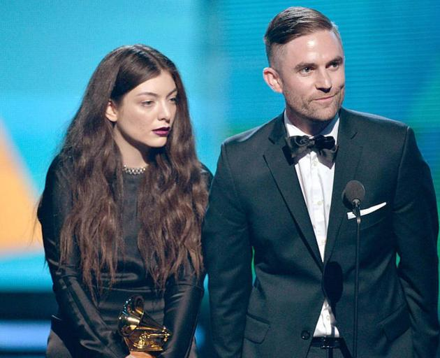 Singer Lorde and songwriter Joel Little accept the Best Pop Solo Performance award for 'Royals' onstage during the 56th Grammy Awards in 2014. Photo / Getty Images
