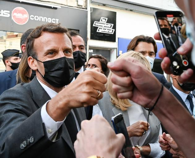 French President Emmanuel Macron was on a trip to Valence when attacked earlier this week. Photo:...