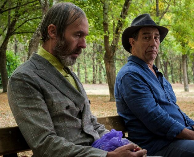 Stephen Dillane (left) and Ciaran Hinds in The Man in the Hat.