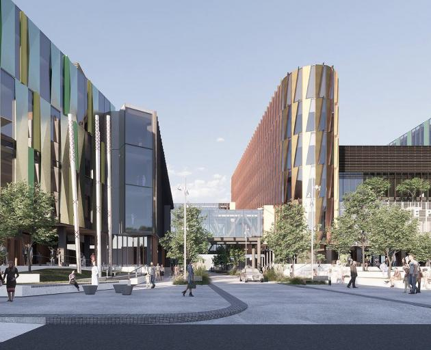 An artist's concept drawings of what the new Dunedin Hospital might look like. IMAGE: SUPPLIED