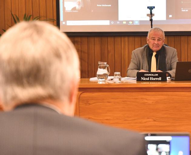 Western Southland farmer Doug Fraser spoke to Environment Southland councillors, including...