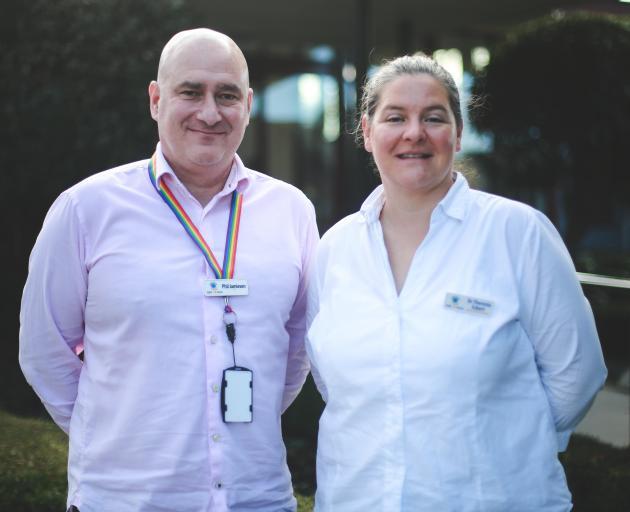 Waitaki District Health Services chief executive Phil Jamieson with one of the Oamaru Hospital's...