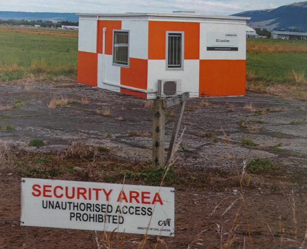 Preetam Maid planted the laptop bag beside a ''localiser hut'' at the end of Dunedin Airport's...