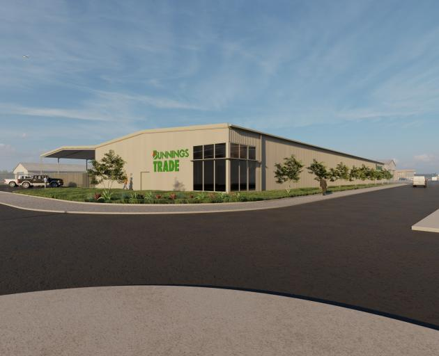 Concept art for Bunnings' trade centre in Invercargill, which is estimated to open by the end of...