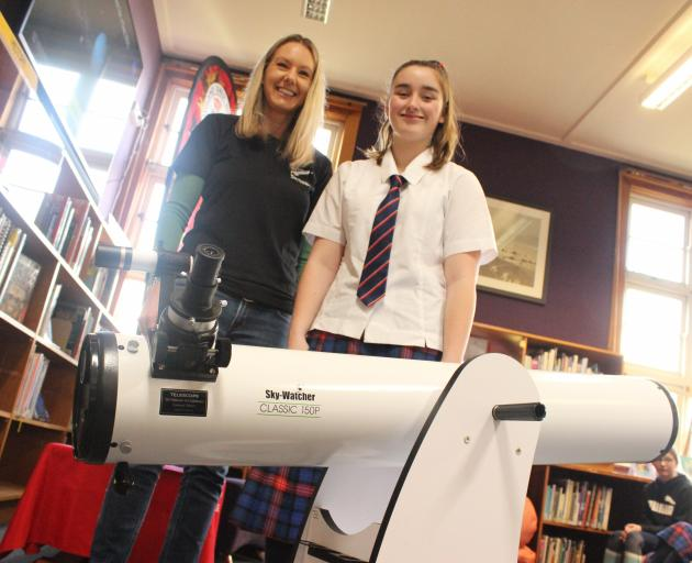 New Zealand Space Agency aerospace technical engineer Kate Breach presents Southland Girls' High...
