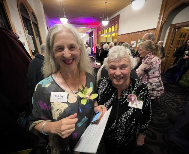 Graduate Women Otago president Shirley Gillett (left) and Lorraine Isaacs catch up at the group's...