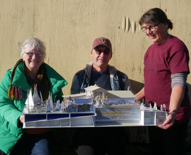Broad Bay Boating Club members (from left) Ann Shacklady-Smith, Marty Brash and Anette Seifert...