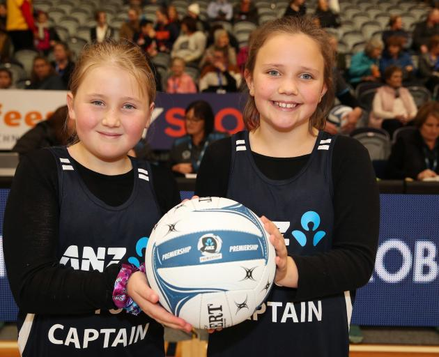 ANZ Future Captains Amber Egan (left) and Grace Oldham were both thrilled to meet their heroes...
