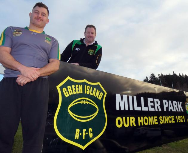 Green Island Rugby Football Club premier captain Dylan Nel wears a grey jersey that harks back to...