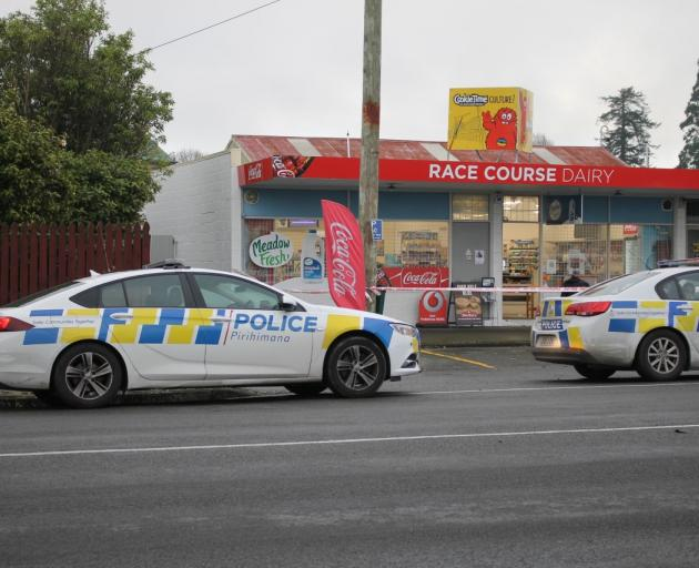 Police at the Race Course Dairy. Photo: Rachel Taylor