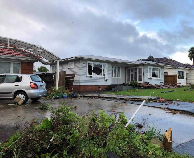Puhinui Rd in Papatoetoe - the house where a mother and baby were sleeping. Photo: Heather Haylock
