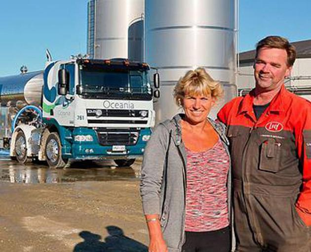 Dairy farmers Wilma and Aad van Leeuwen. Photo: Supplied