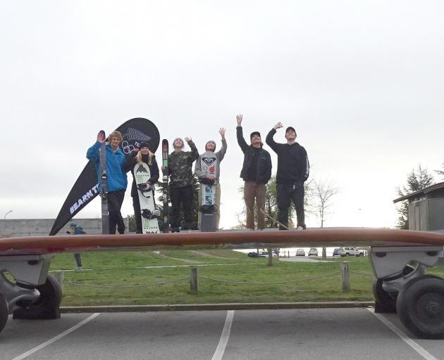 New Zealand winter athletes (from left) Ben Barclay, Zoi Sadowski-Synnott, Laura Whitten, Cool...