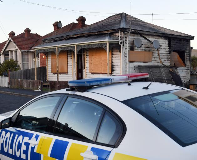 This Wesley street house was the scene of a double killing. Photo: Stephen Jaquiery