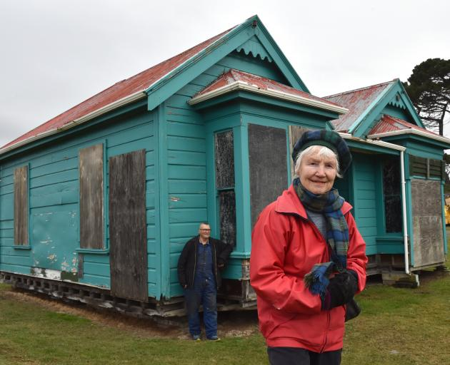 Dunedin heritage advocate Ann Barsby and Dunedin Gasworks Museum volunteer Peter Mason at a 19th...