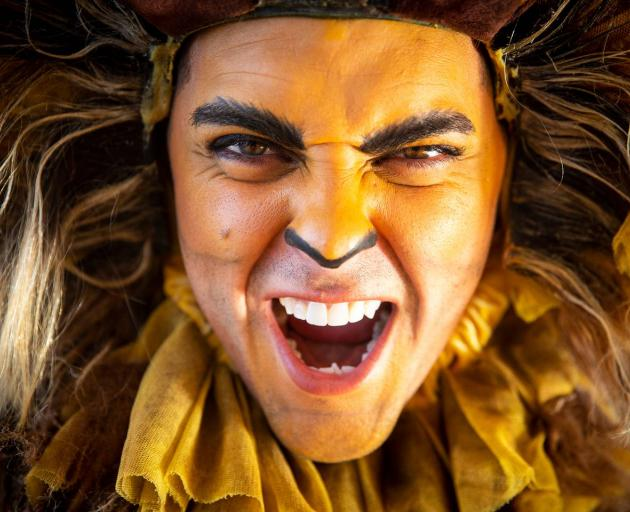Papas is ready to roar as Alex the Lion in the upcoming NZ production of Madagascar the Musical....