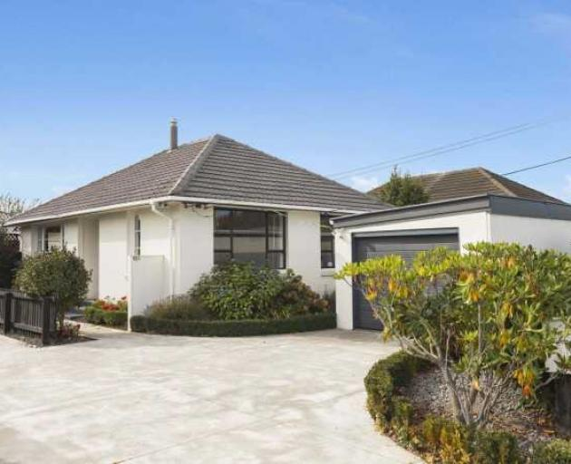 This three-bedroom house in Hoon Hay recently sold for $538,000. Photo: Supplied