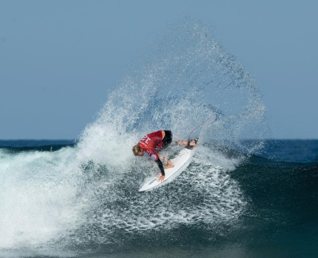 John John Florence, of the United States,  competes at the Rip Curl Narrabeen Classic at...