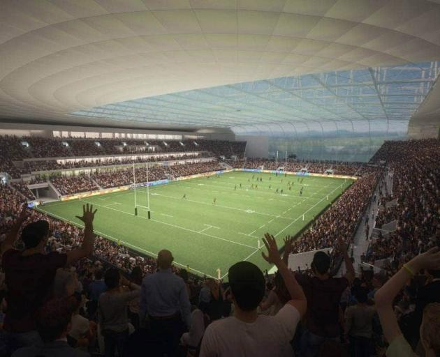 An artist's impression of a potential design for the new stadium. Image: newsline / CCC
