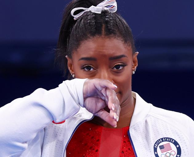 Prior to the Olympics, Simone Biles said, she had been going through some things and using...