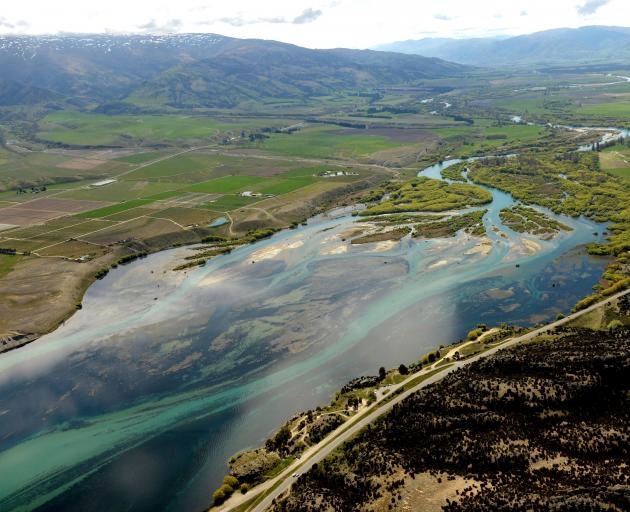 The Clutha River at the head of Lake Dunstan near Bendigo clearly illustrates how it is reverting...