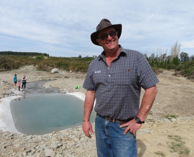 Peter Lowe, at the opening of the Hinds Managed aquifer recharge site in 2018.