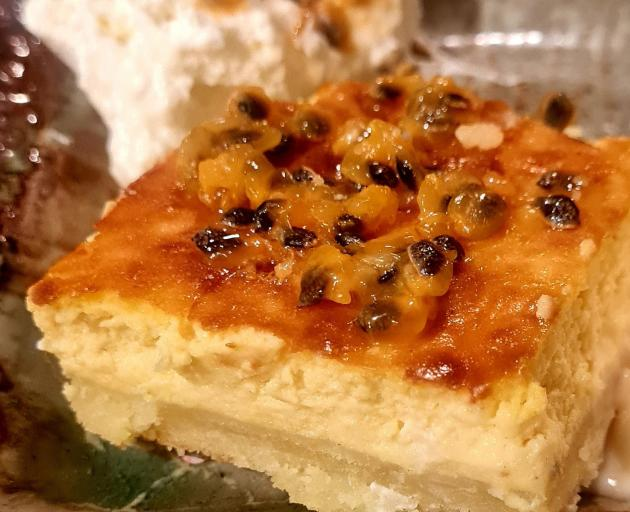 Banana passionfruit cheesecake. PHOTOS: JACKIE PHILLIPS