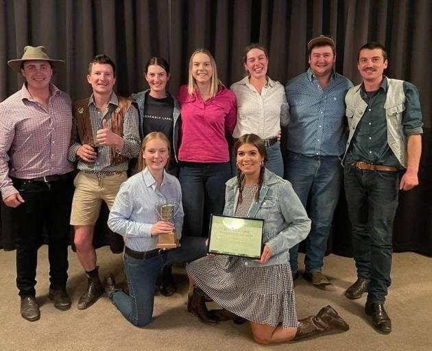 Foothills Young Farmers (back from left) Simon Wakefield, Scott Paton, Sam Ensor, Beth Gunn, Alex...