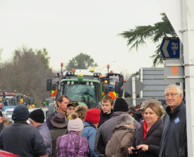 More than a 1000 turned up to the protest in Ashburton on Friday.