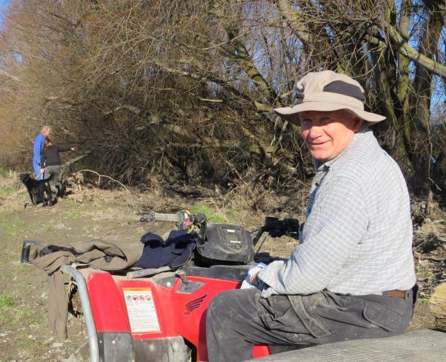 Volunteer Phil Hoskin, of Te Anau, was in Mid Canterbury to help flood-affected farmers.