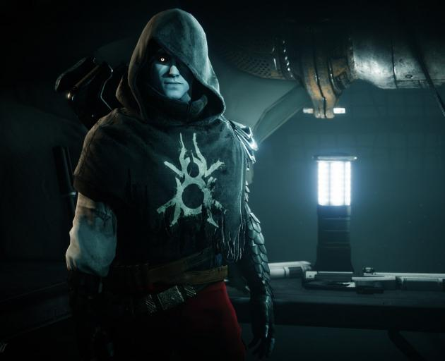 Crow in a scene from video game Destiny 2.