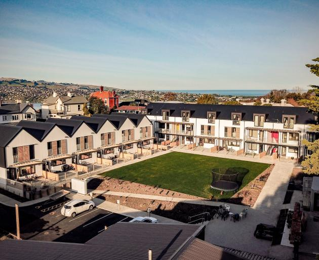 Residents at the Toiora High St cohousing development are housed in two multi-level buildings,...