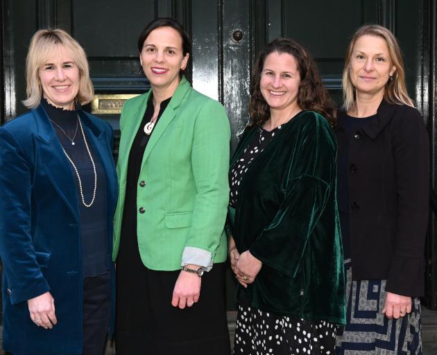 Dunedin directors Trish Oakley (left), Jessica Palmer and Stephanie Pettigrew, and Institute of...
