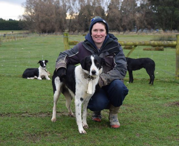 Mount Linton Station sheep genetic manager Martha Broughton got the top price of $8000 for her 3...