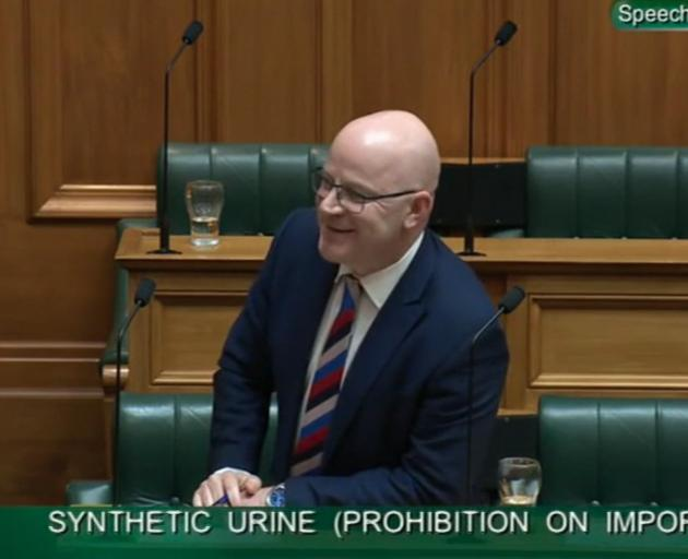 Waimakariri MP Matt Doocey (National) argues in favour of the Synthetic Urine (Prohibition on...
