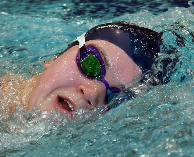 Fairweather charges through the water as she practises her freestyle. PHOTOS: STEPHEN JAQUIERY