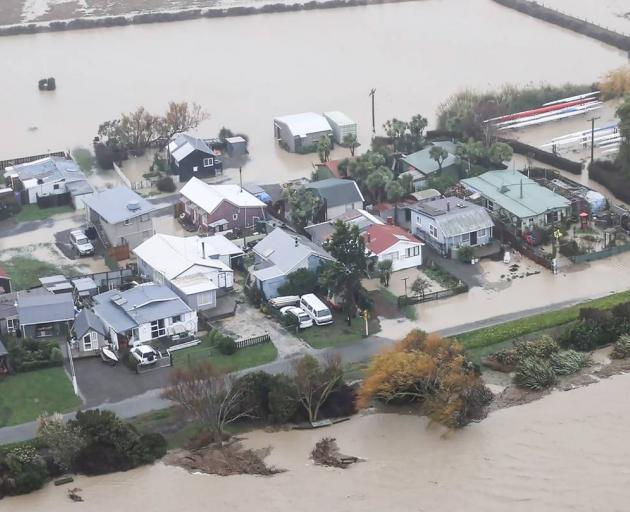 """The Canterbury flood was the result of a deep low pressure system, an """"atmospheric river"""", and..."""