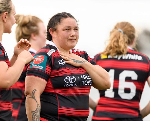 Stephanie Te Ohaere-Fox during round one of the Farah Palmer Cup against Counties Manukau. Photo:...