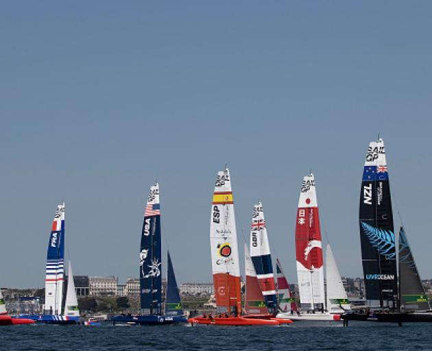 The SailGP event will take place at Lyttelton Harbour on January 29 and 30. Photo: Mark Lloyd...