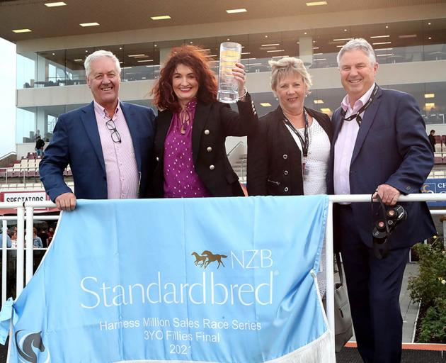 Racing Integrity Board member Brent Williams (right) and Harness Racing New Zealand chief...
