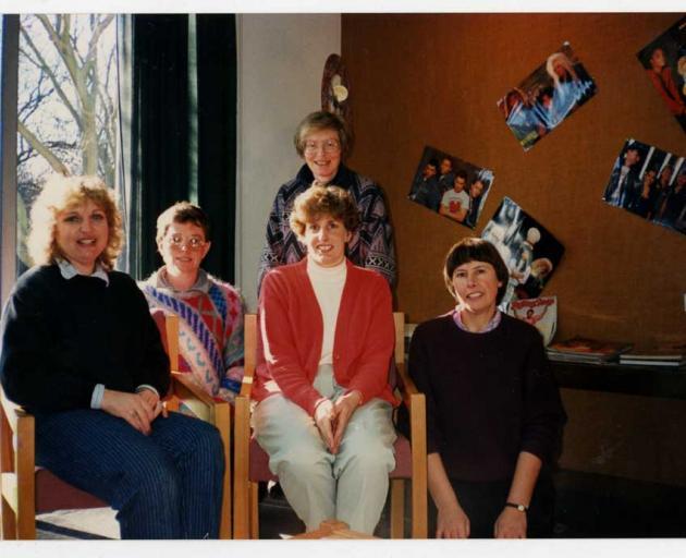 The Spreydon Library team in 1991, including Lyndsey Knight (left), Jenni Skelton, Christine...
