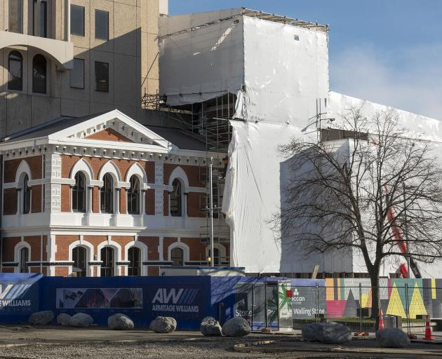 The new hospitality complex in Cathedral Square will open in December. Photo: Geoff Sloan