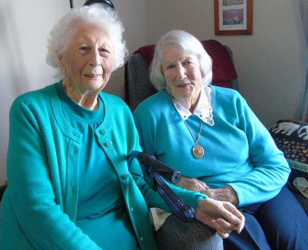 Betty Smith (left) and Marjorie Ainsworth celebrate 75 years of friendship, just in time for the...