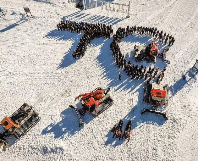 Staff at Cardrona alpine resort near Queenstown created a tribute to Tom Campbell after his...