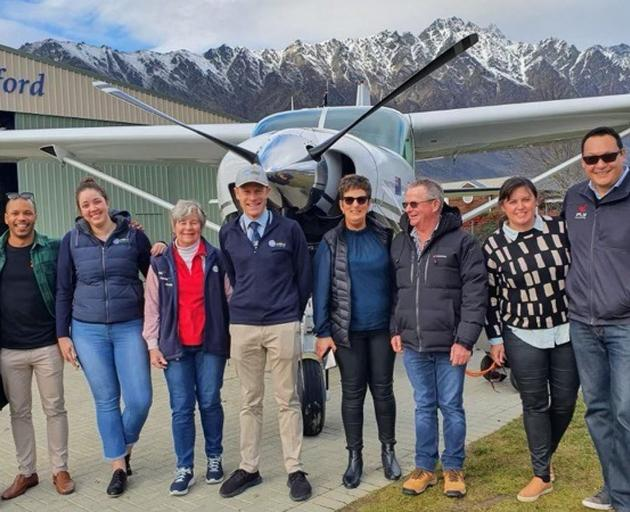Queenstown tourism operators (from left) Ciara O'Toole, Kenny Winter, Kristine Montgomery, Kerrie...